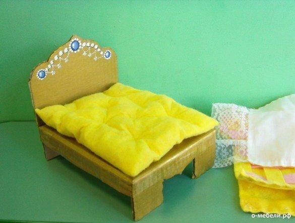 Фото как сделать мебель для кукол своими