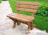 Скамейка из дерева своими руками