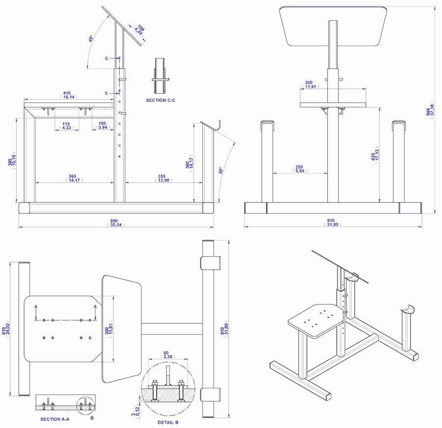 Как сделать скамью для бицепса